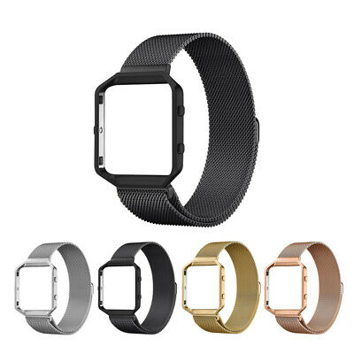 AU15.30 • Buy Milanese Stainless Steel Frame + Band Strap For Fitbit Blaze Smart Fitness Watch