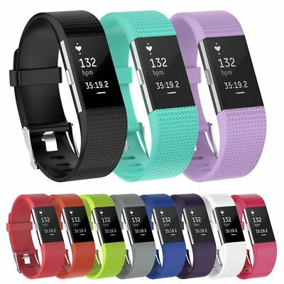 AU7.35 • Buy Replacement Silicone Band Sport Bracelet Fitness Watch Strap For Fitbit Charge 2