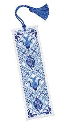 £6.41 • Buy Delft Blue Bookmark Cross Stitch Kit By Textile Heritage
