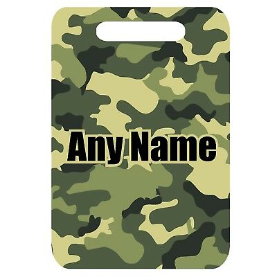 £4.99 • Buy Personalised Camouflage Army Print Mdf Luggage Suitcase Tag & Fixing Strap
