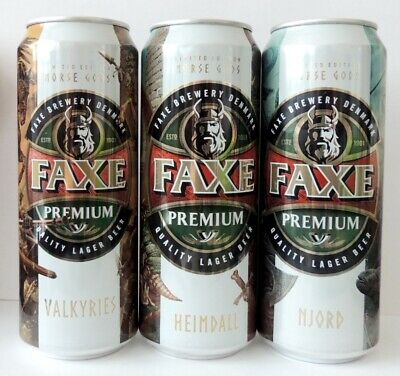 $ CDN26.71 • Buy Faxe Beer Cans NORSE GODS Part 1 - 3 Volume 450ml Limited Edition Bottom Open!