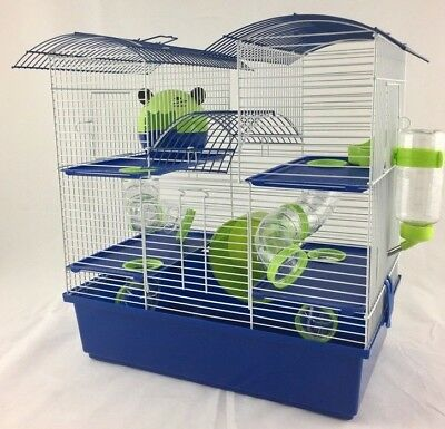 £39.99 • Buy Abby Large Dwarf Hamster Small Pet Cage 3 Tier Pink & Purple, Blue & Lime