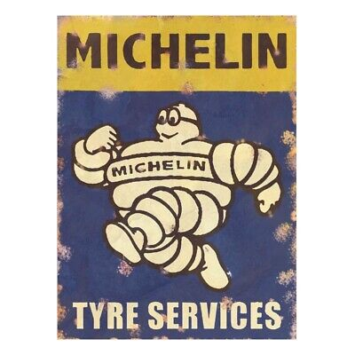 Metal Garage Sign Michelin Tyres Vintage Advertising Retro Plaque Shed Classic • 5.99£
