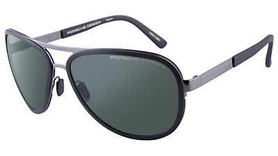 b2e761e51b65 Porsche Design Sunglasses 8567 Gunmetal Black Men s Aviator P8567-A 61mm •  229.00