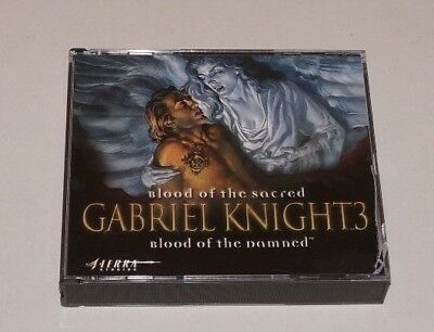 AU44.99 • Buy GABRIEL KNIGHT 3: Blood Of The Sacred, Blood Of The Damned - PC CD, 1999 - Ede