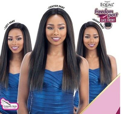 £41.99 • Buy Freetress Equal Synthetic Lace Front Long Straight Hair Wig - Freedom Part 203