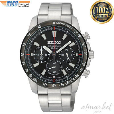 $ CDN190.25 • Buy SEIKO SSB031PC Men's Watch Quartz Chronograph Black Tachymeter 100m From Japan