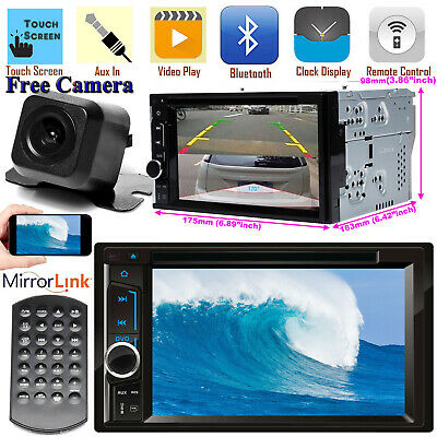 $124.50 • Buy Car Stereo CD DVD Player Bluetooth 2Din TV+ Camera For Nissan Quest Rogue Sentra