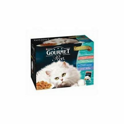 Gourmet Perle Adult Cat Food Ocean Delicacies 85g 12 Pack (1.02kg) (Pack Of 2) • 20.79£