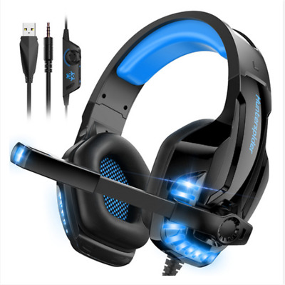 AU33.95 • Buy 3.5mm V6 Gaming Headset MIC LED Headphones For PC Laptop PS4 Pro Xbox One S 360