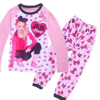 AU19.95 • Buy JOJO SIWA Girls Long Sleeve Top And Pants Set Pjs Pyjamas Size 2-10 Clothing