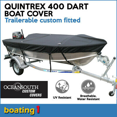 AU139 • Buy Oceansouth Trailerable Custom Boat Cover For Quintrex 400 DART Open Boat