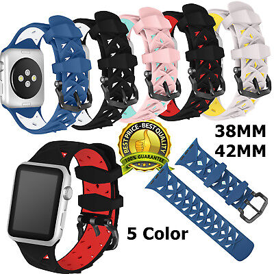 AU20.39 • Buy Soft Sport Silicone For IWatch Nike Apple Watch Band For Series 1 2 3 42mm 38mm