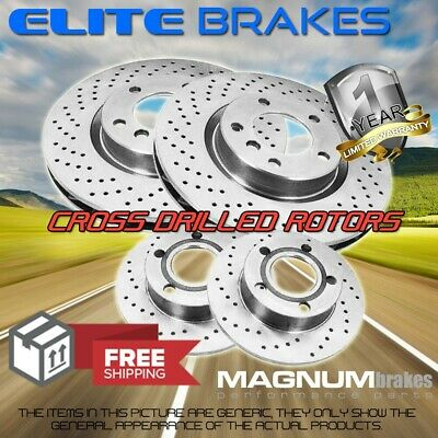 $ CDN300.26 • Buy Front & Rear 4 Cross Drilled Brake Disc Rotors For 2013 BMW X5 XDrive35d