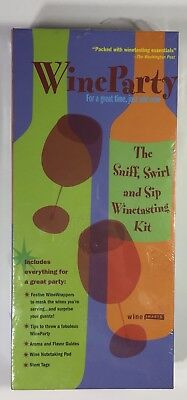 Wine Party By Smarts The Sniff Swirl And Sip Wine Tasting Kit Drink • 9.99$