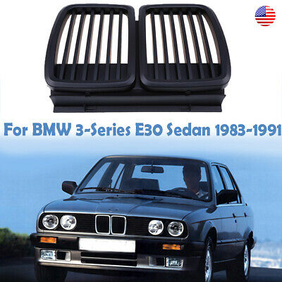 $43.99 • Buy 2x Matte Black Grille Kidney For BMW E30 3 Series Cabrio Touring Coupe Sedan