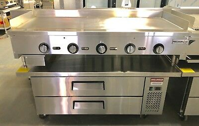 "$3775 • Buy NEW 60"" Griddle On Chef Base Refrigerator Flat Grill Thermostat Temperature"