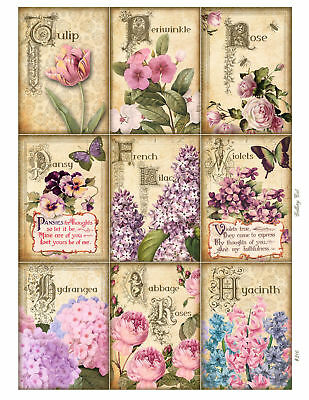 Spring Flowers Glossy Finish Card Toppers - Crafts Embellishment • 3.25£