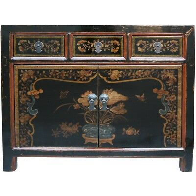 AU2080 • Buy Chinese Antique Furniture -  Original Mogolian Painted Sideboard (37-034)