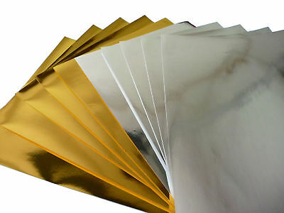 £3.99 • Buy A4 Gold & Silver Metallic Paper - 120g - Pack 10 Sheets (5 Of Each Colour)
