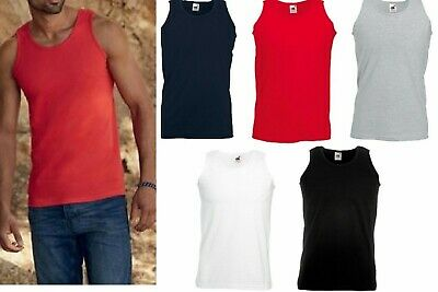 £13.59 • Buy 3 Or 5 Pack Fruit Of The Loom Mens Sleeveless Vest Plain Sports Gym Tank Top