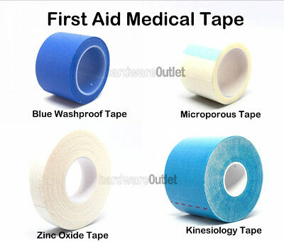 Blue Detectable Zinc Oxide Microporous Sports MEDICAL TAPE Strapping First Aid  • 3.80£