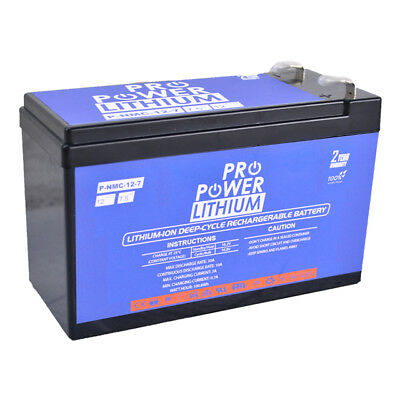 AU105.99 • Buy 12V 7Ah LiFePO4 Lithium Rechargeable Battery Ultra Light Last Longer Alarm NBN