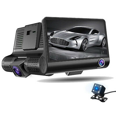 AU80.08 • Buy Video Camera For Car + Sd 8/16/32 Gb Dash Cam Full Hd 1080 P Cardvr Wdr 3 Lenses