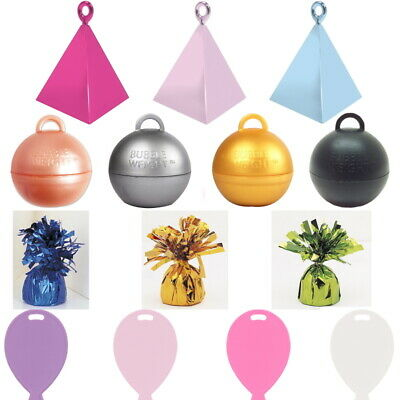 £6.99 • Buy Helium Balloon Weights For Foil And Latex Balloon - 17 Colours - 1 To 100 Pcs