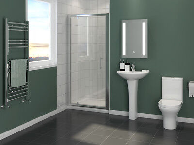 £91.99 • Buy Framed Pivot Shower Enclosure Glass Screen Walk Cubicle With Tray & Free Waste