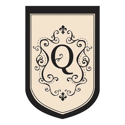 $ CDN24.93 • Buy REDUCED From $24.95 - Estate Size Monogram  Q  Double Applique Flag (36 X54 )