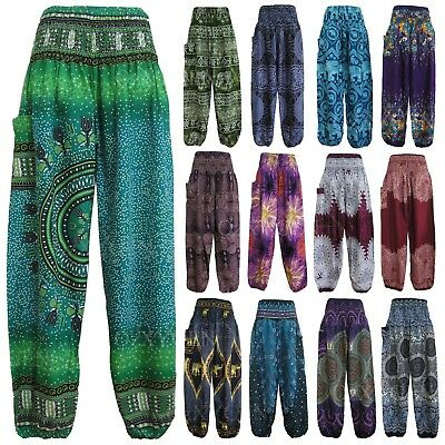 AU15.95 • Buy New Ladies Harem Pants Baggy Bohemian Boho Hippie Aladdin Yoga Genie Trousers HP