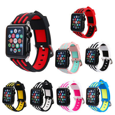 AU17.67 • Buy Sport Silicone Band Strap For IWatch Nike+ Apple Watch Series 1 2 3 42MM 38MM