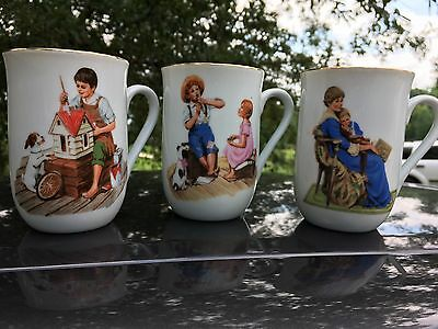 $ CDN37.87 • Buy Norman Rockwell 1986 Museum Collectible Mugs Set Of 3 #328