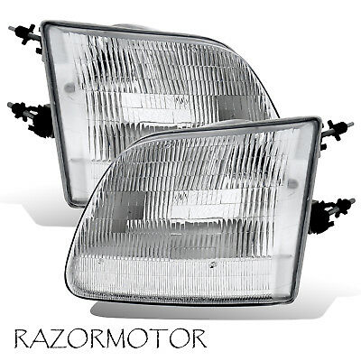 $46.95 • Buy 97-03/02 Replacement Corner Headlight Set For Ford F150/Expedition Pair W/Bulb