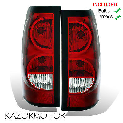 $82.99 • Buy 2003-06 Replacement Rear Tail Lights Set For Chevy Silverado W/Bulb And Harness