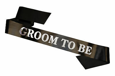 £3.95 • Buy Mens Groom To Be Husband Stag Party Do Night Sash Accessory Gift Hen Bachelor