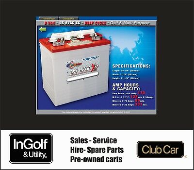 AU1815 • Buy 6x8v US Battery 8v 8volt US8VGC 48v Golf Cart Buggy Batteries Yamaha, Club Car