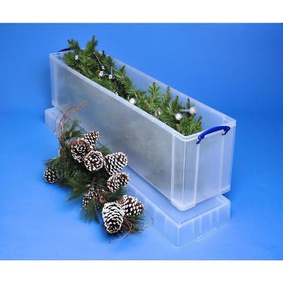 Really Useful Plastic Clear Christmas Tree Baubles Storage Box 77 Litre • 29.99£