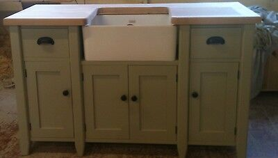 £1175 • Buy Painted Free Standing Kitchen Belfast Sink Unit Housing And Cupboard