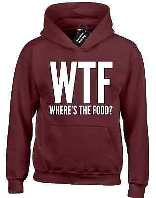 £14.99 • Buy Wtf Wheres The Food Hoody Hoodie Funny Fashion Design New