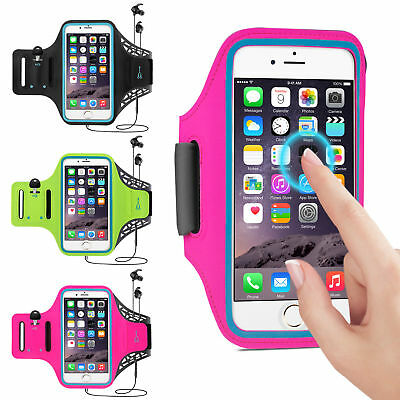 For IPhone X 6/6s/7/8 Plus Jogging Gym Armband Sports Running Arm Band Bag Case • 3.61£