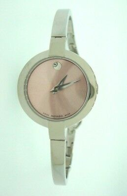 $350 • Buy Movado Bela Pink Dial Stainless Steel Bangle Watch Retails @ $495