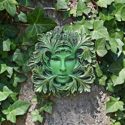 £19.95 • Buy Green Man Lady Of The Forest Wall Plaque Pagan Wiccan Garden Ornament Decoration