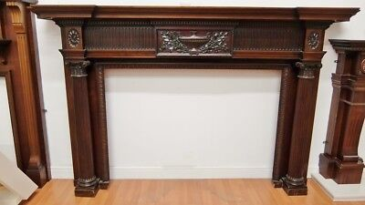 Solid Mahogany Fire Surround Fireplace Beautiful 1460x2290mm Wooden Timber • 2,067£