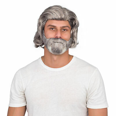 $17.95 • Buy Adult Mens Luke Sky Deluxe Costume Accessory White Wig And Beard Set