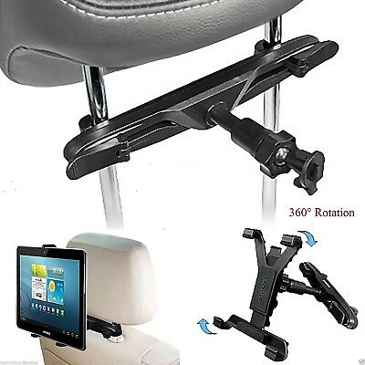 Universal In Car Back Seat Headrest Holder Mount Cradle For 7 To 11 Inch Tablets • 7.98£