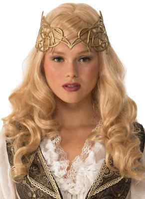 £4.29 • Buy Crown Gold Celtic Medieval Fantasy Fancy Dress Halloween Adult Costume Accessory