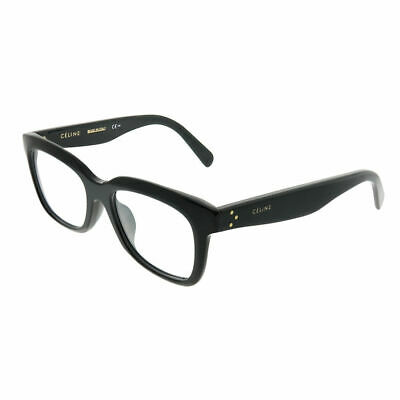 a94af6e15f06 Celine Clara CL 41390 F 807 Black Plastic Rectangle Asian Fit Eyeglasses  52mm • 98.99