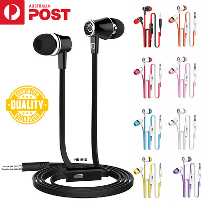 AU8.99 • Buy 3.5mm Stereo Wired Earphones Headphones Headset Bass With Mic For IPhone Earbuds